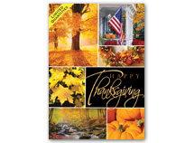 Glowing Gratitude Thanksgiving Cards